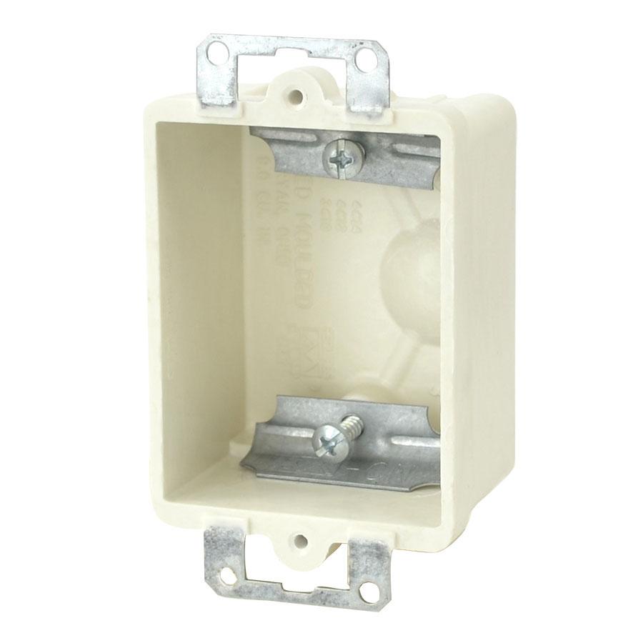 9301-E Single gang electrical box with metal ears