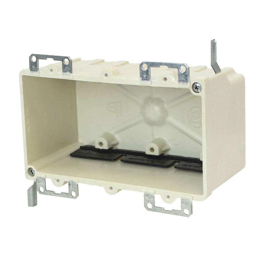 9313-EWK Three gang electrical box with metal ears wing brackets