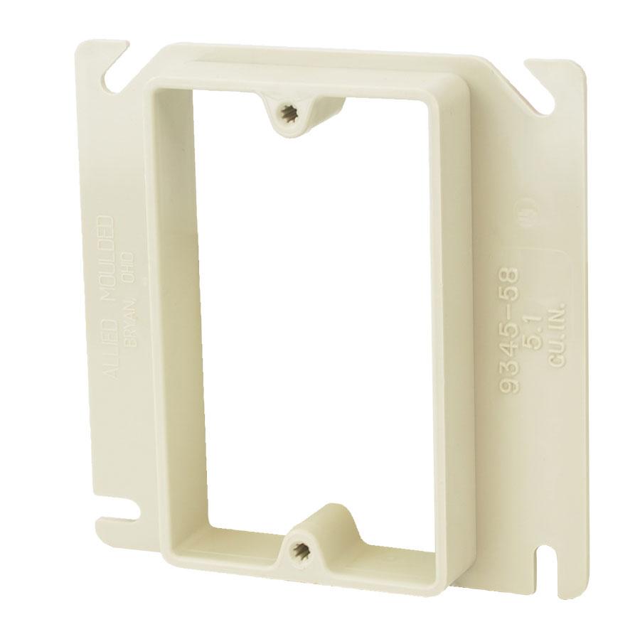 9345-58 4 square inch junction box single gang plaster ring