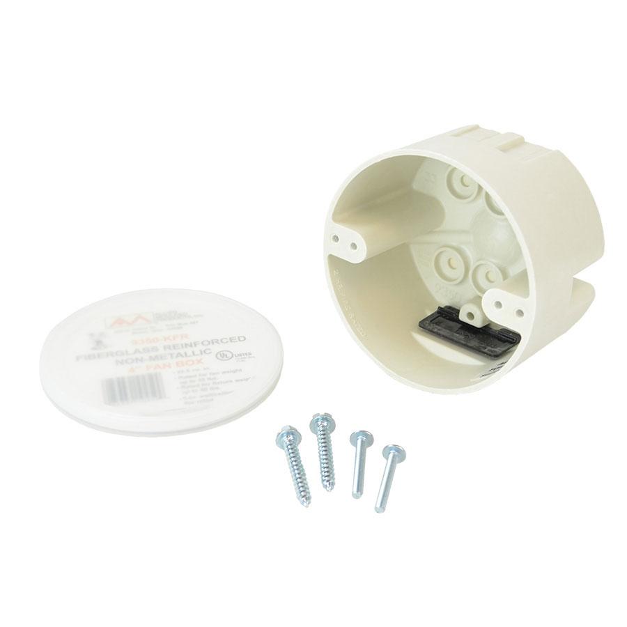 9350-KFR 4 round bottom mount fan support box