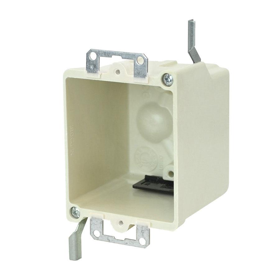 9366-EW Single gang electrical box with metal ears wing brackets