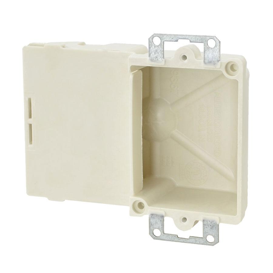 9367-E Single gang electrical box with metal ears