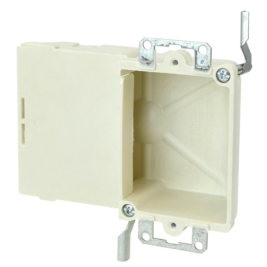 9367-EW Single gang electrical box with metal ears wing brackets