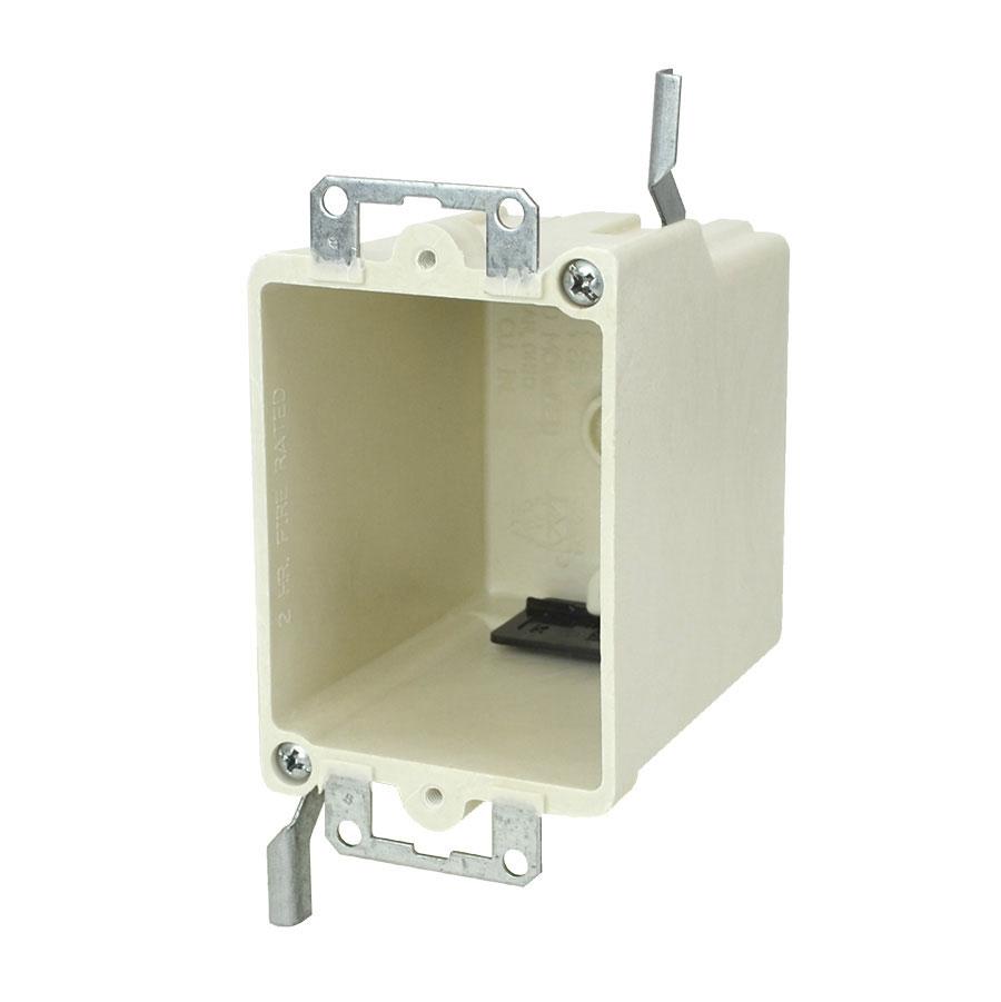 9368-EWK Single gang electrical box with metal ears wing brackets