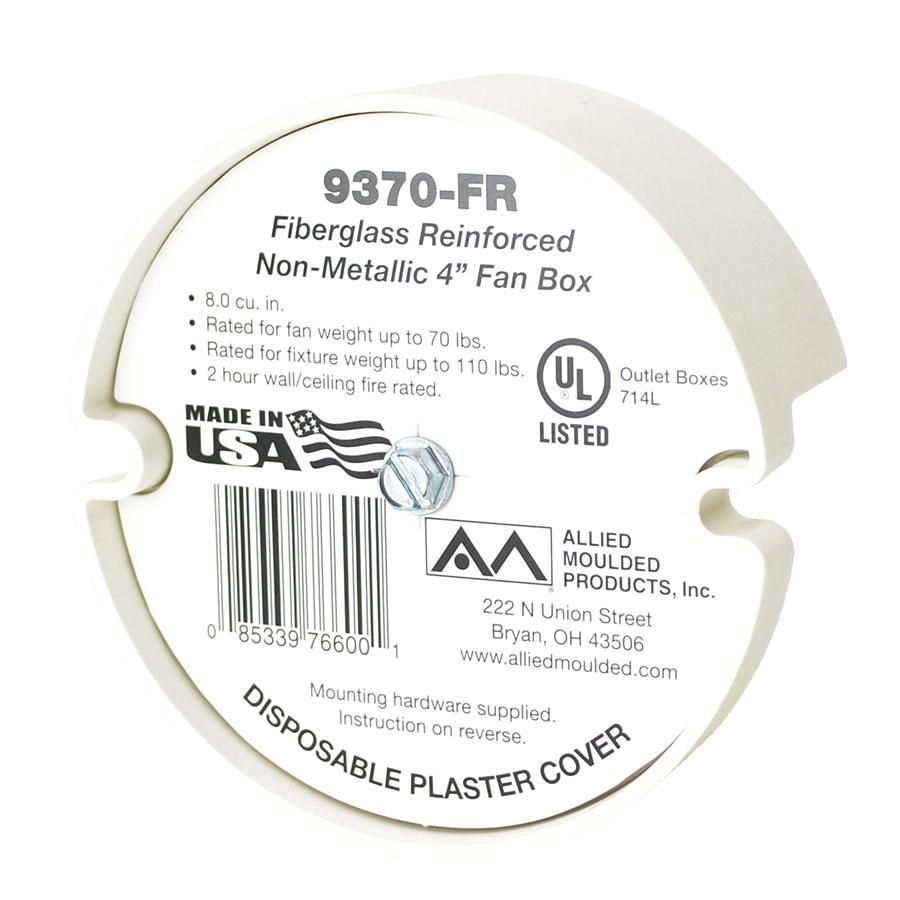 9370-FR 4 round bottom mount fixture support box