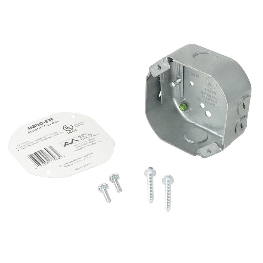 9380-FR Octagonal steel fanfixture support box