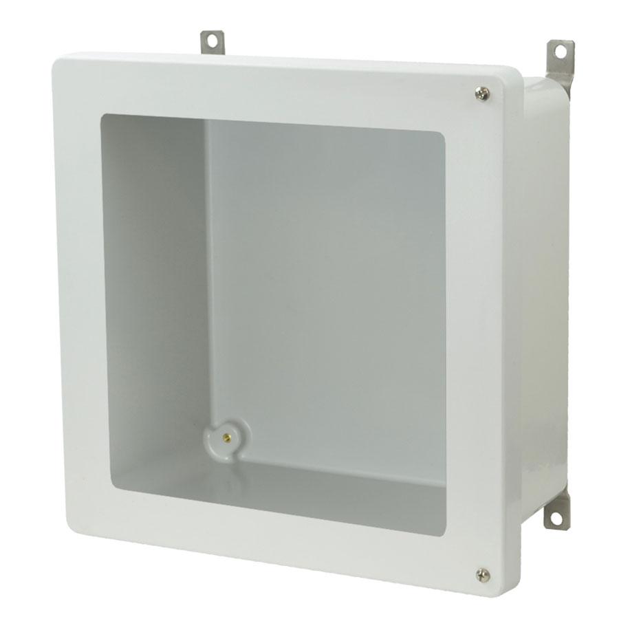 AM1226HW Fiberglass enclosure with 2screw hinged window cover