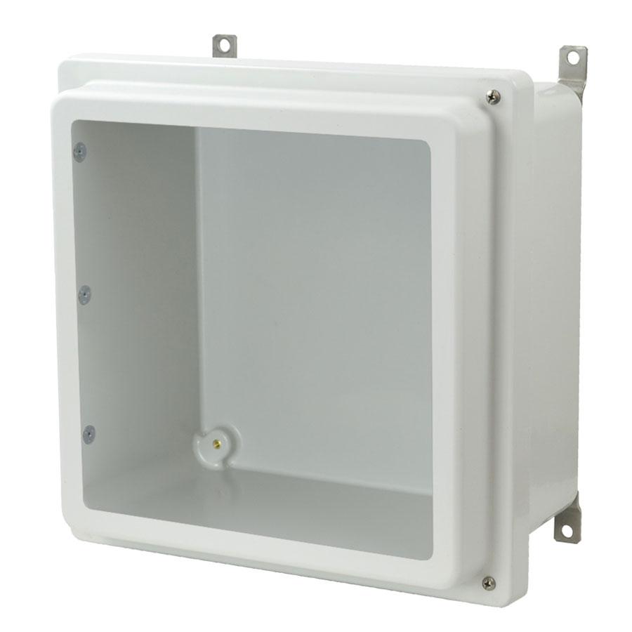 AM1226RHW Fiberglass enclosure with raised 2screw hinged window cover