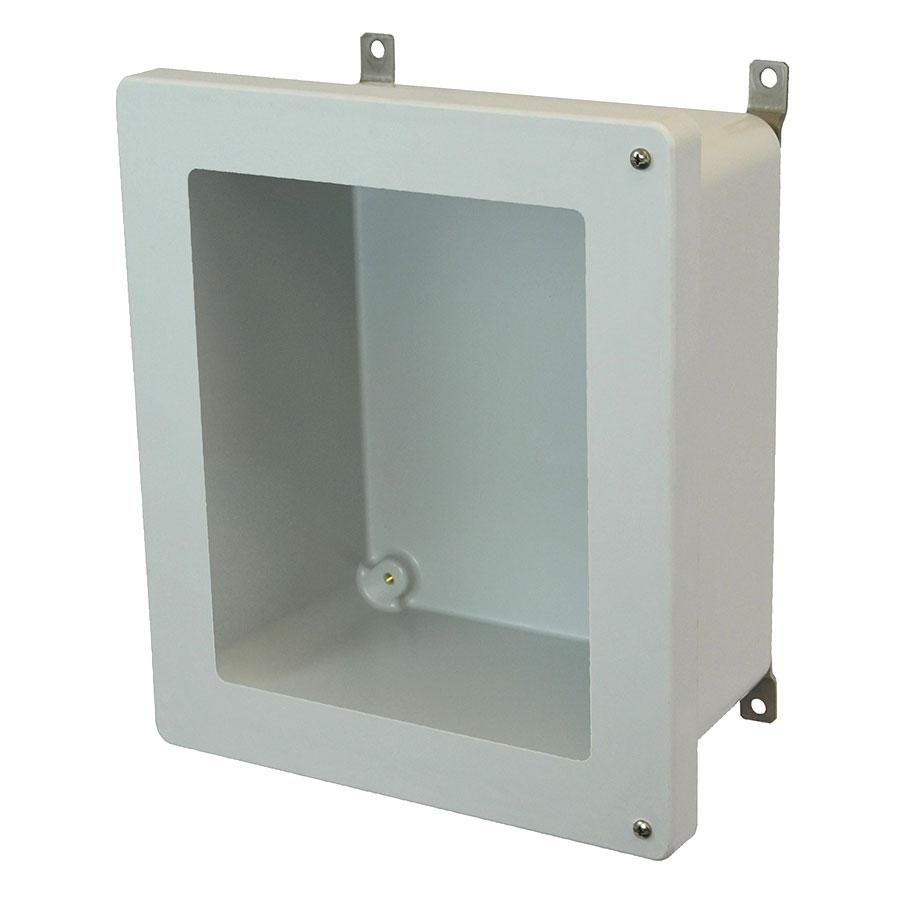 AM1868HW Fiberglass enclosure with 2screw hinged window cover