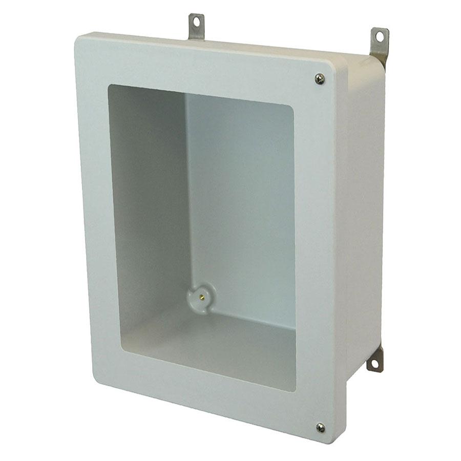 AM2068HW Fiberglass enclosure with 2screw hinged window cover