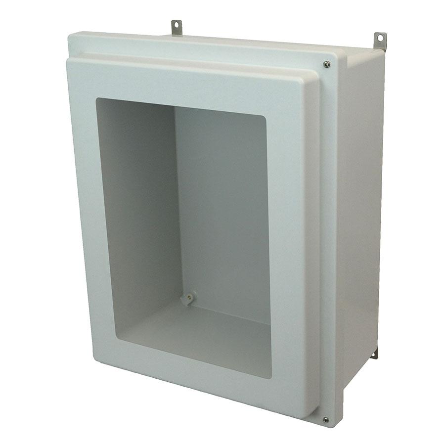 AM2068RHW Fiberglass enclosure with raised 2screw hinged window cover