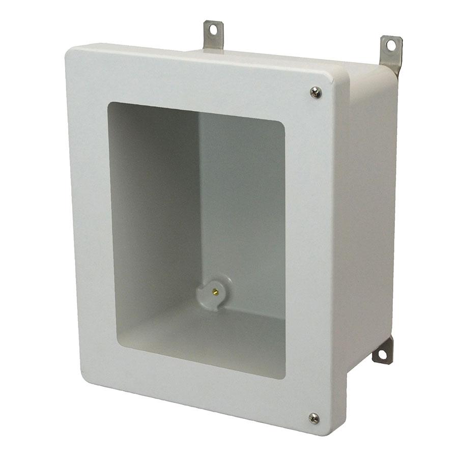 AM864HW Fiberglass enclosure with 2screw hinged window cover