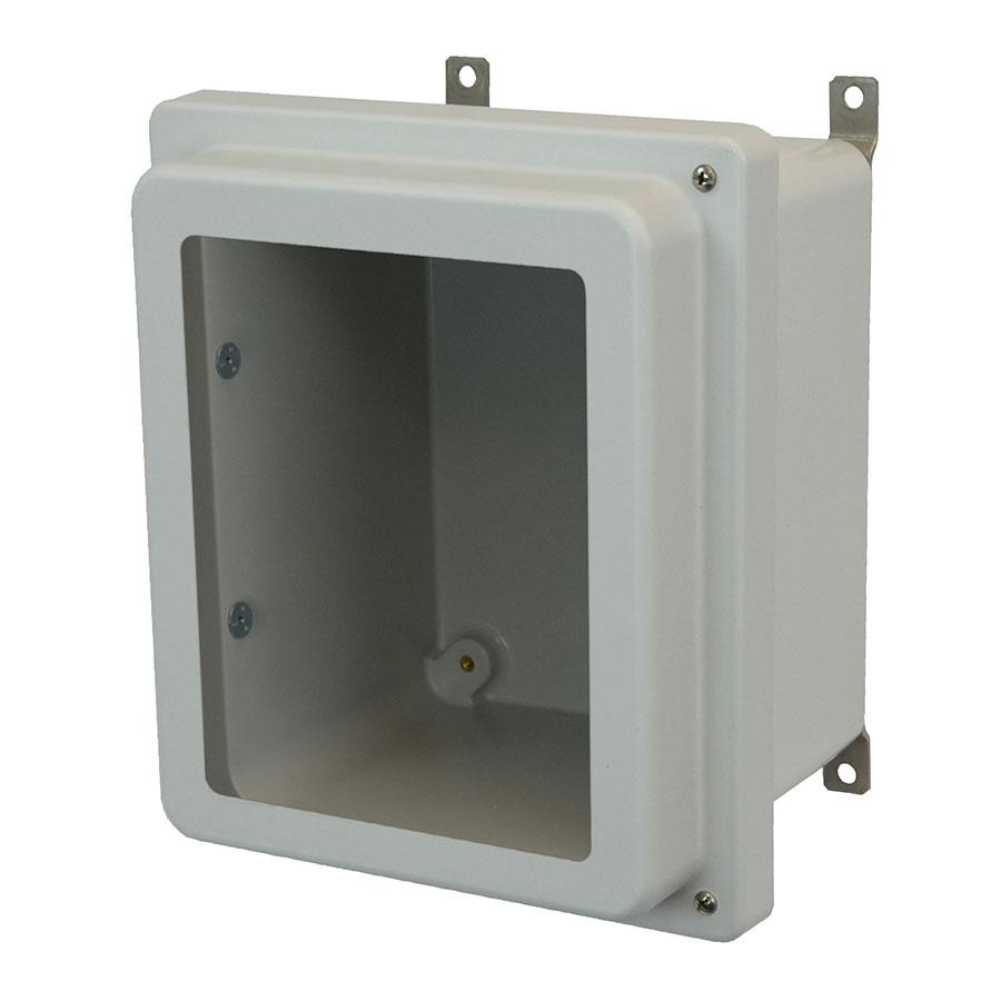 AM864RHW Fiberglass enclosure with raised 2screw hinged window cover
