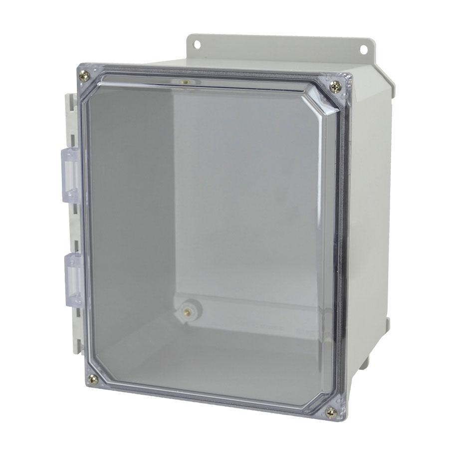 AMU1086CCF Fiberglass enclosure with 4screw liftoff clear cover