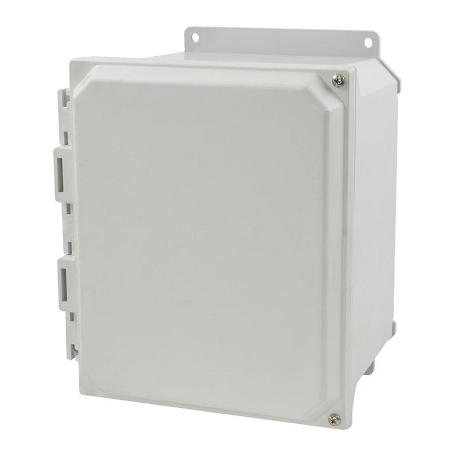 AMU1086HF Fiberglass enclosure with 2screw hinged cover