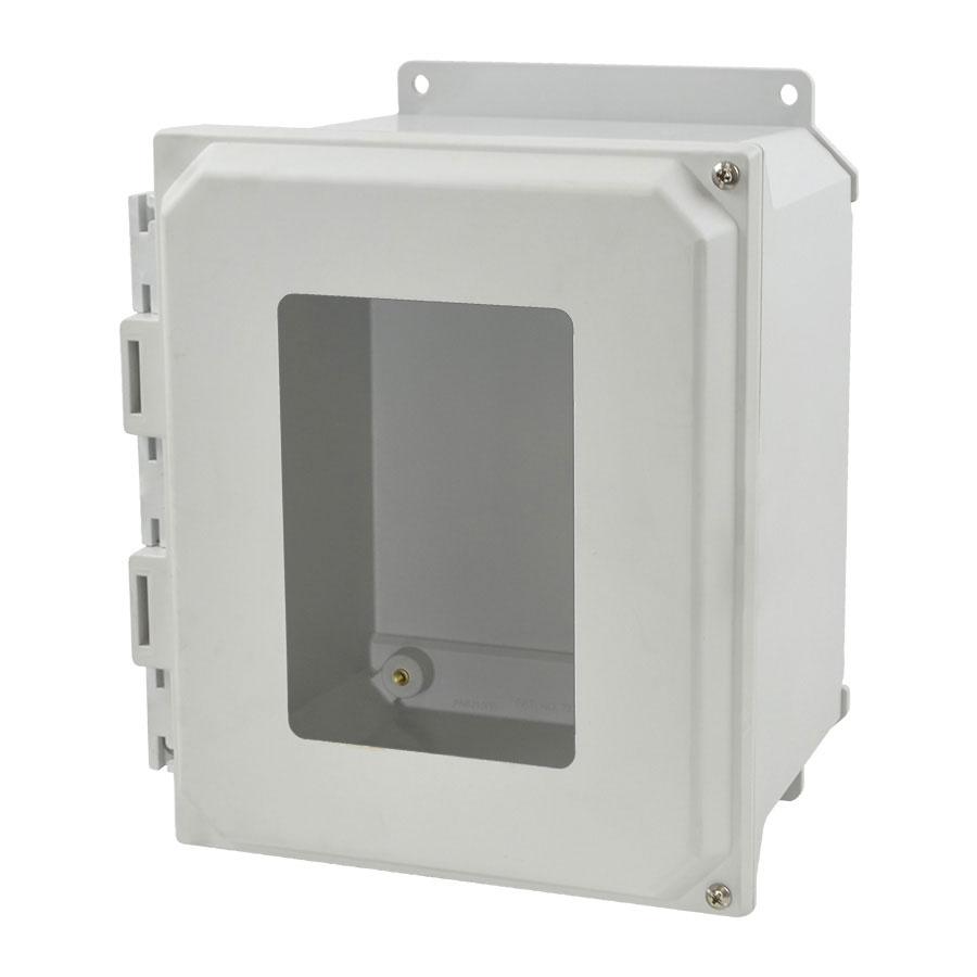 AMU1086HWF Fiberglass enclosure with 2screw hinged window cover