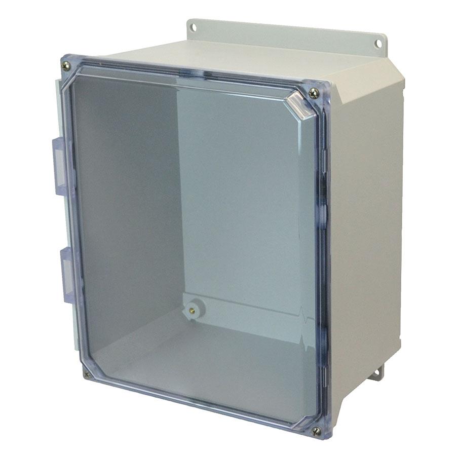 AMU1648CCF Fiberglass enclosure with 4screw liftoff clear cover