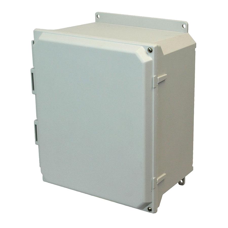 AMU1648HF Fiberglass enclosure with 2screw hinged cover