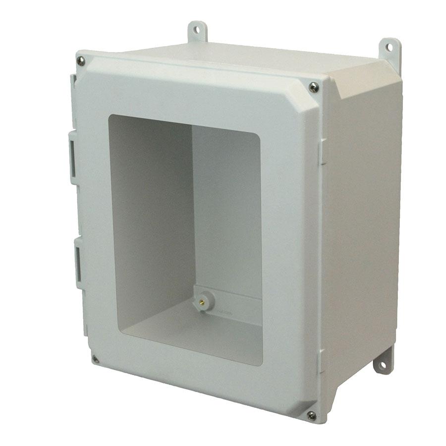 AMU1648W Fiberglass enclosure with 4screw liftoff window cover