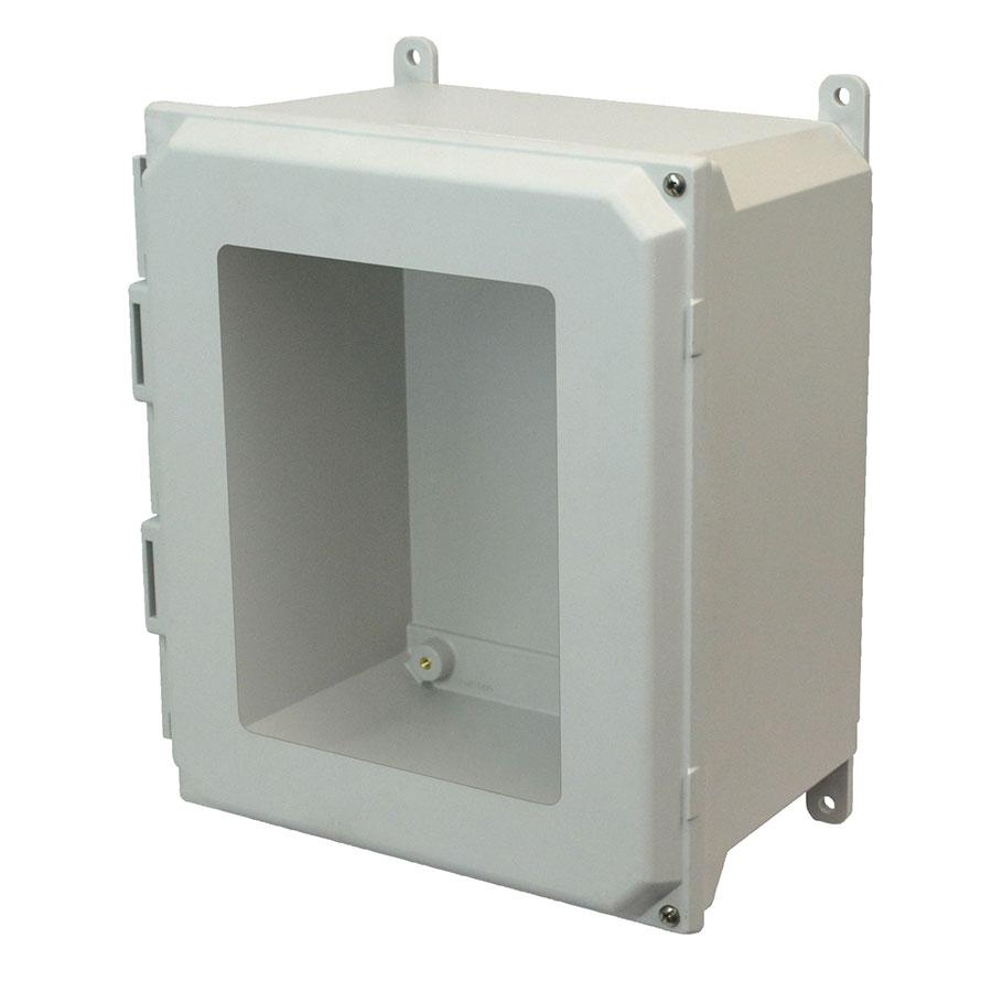 AMU1860HW Fiberglass enclosure with 2screw hinged window cover