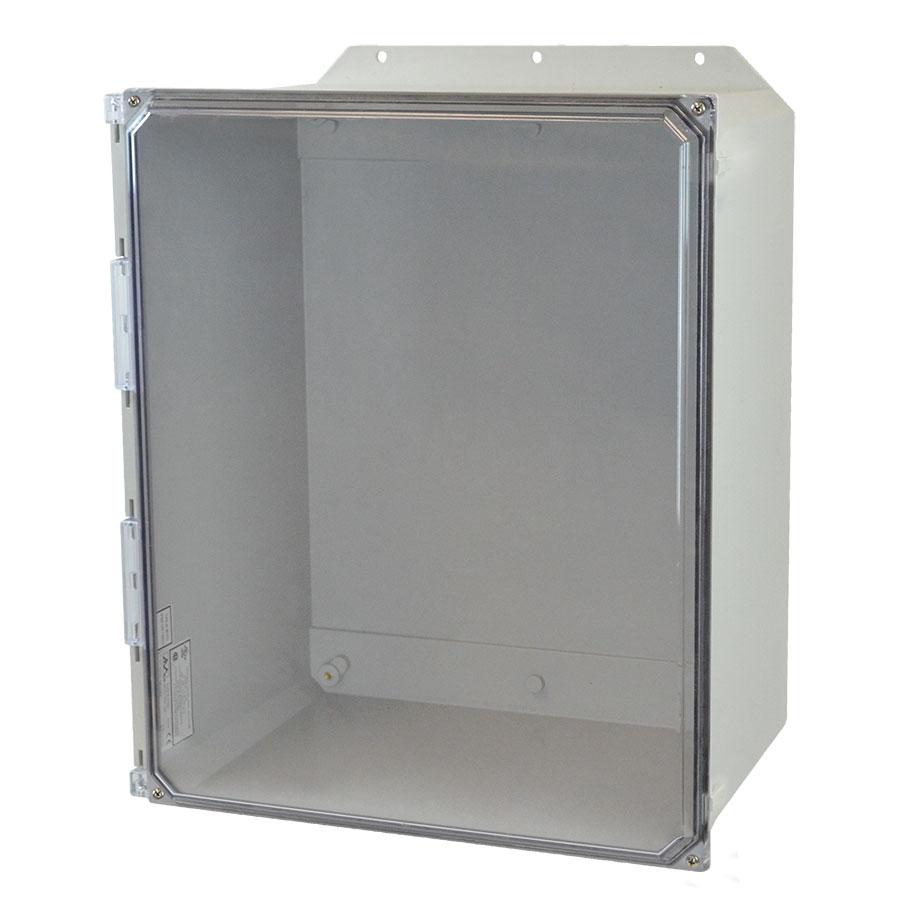 AMU2060CCF Fiberglass enclosure with 4screw liftoff clear cover