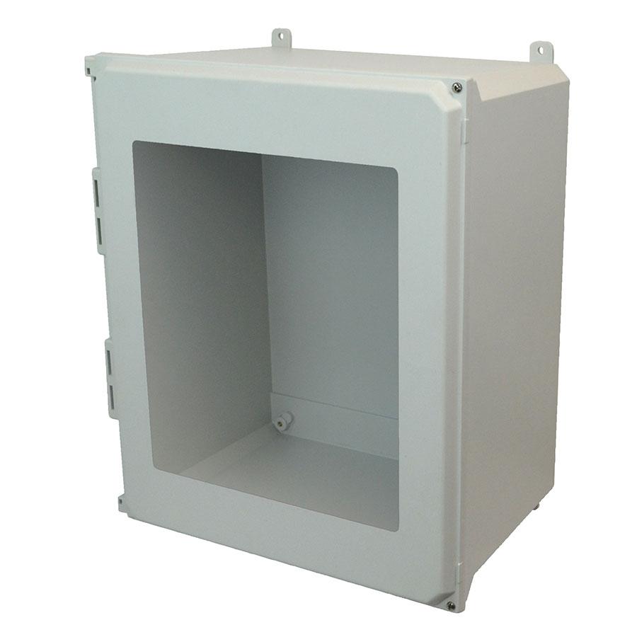 AMU2060HW Fiberglass enclosure with 2screw hinged window cover