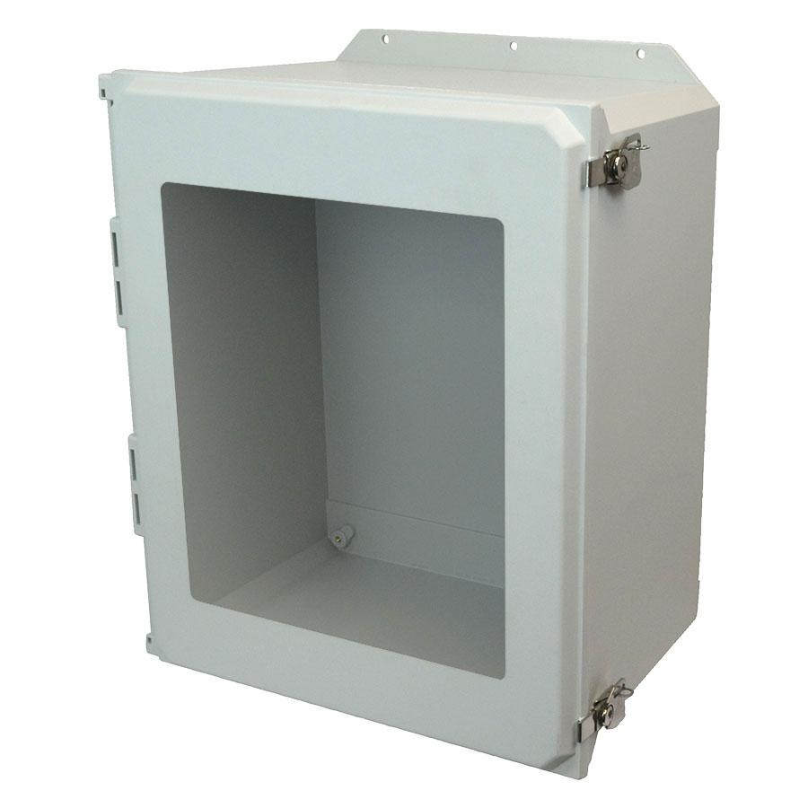 AMU2060TWF Fiberglass enclosure with hinged window cover and twist latch
