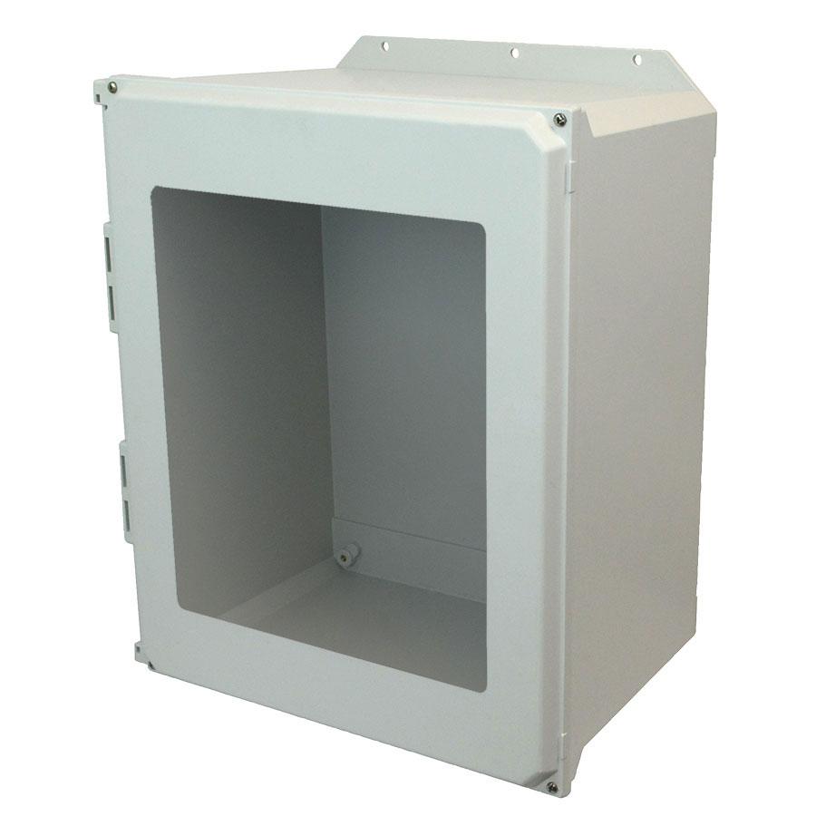 AMU2060WF Fiberglass enclosure with 4screw liftoff window cover