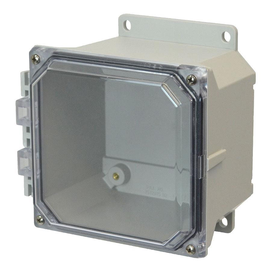 AMU664CCF Fiberglass enclosure with 4screw liftoff clear cover