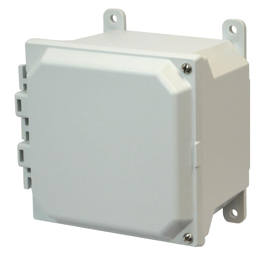 AMU664H Fiberglass enclosure with 2screw hinged cover