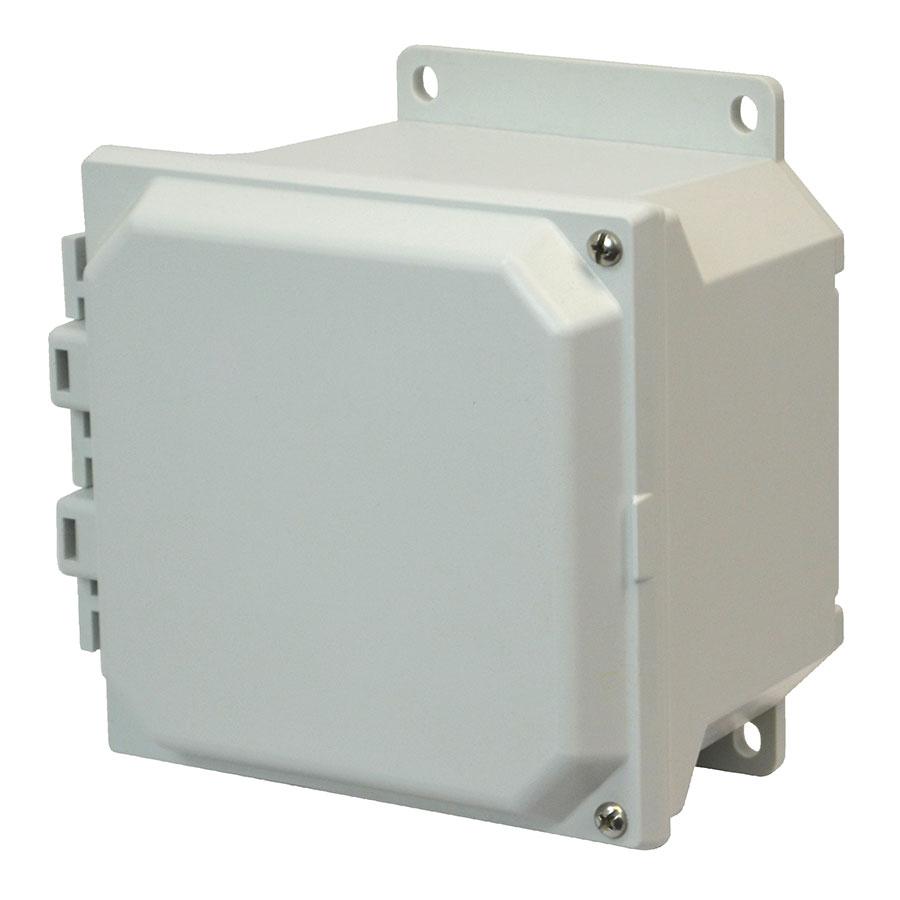 AMU664HF Fiberglass enclosure with 2screw hinged cover