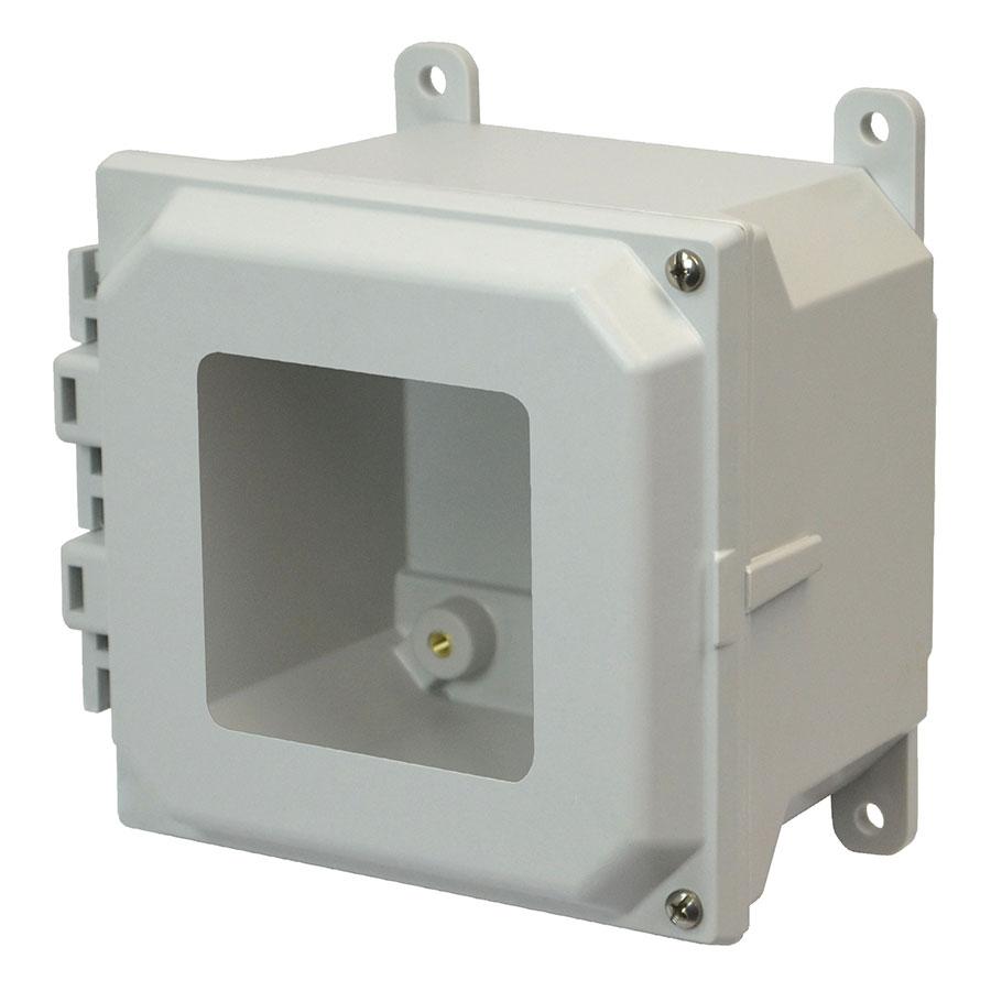 AMU664HW Fiberglass enclosure with 2screw hinged window cover