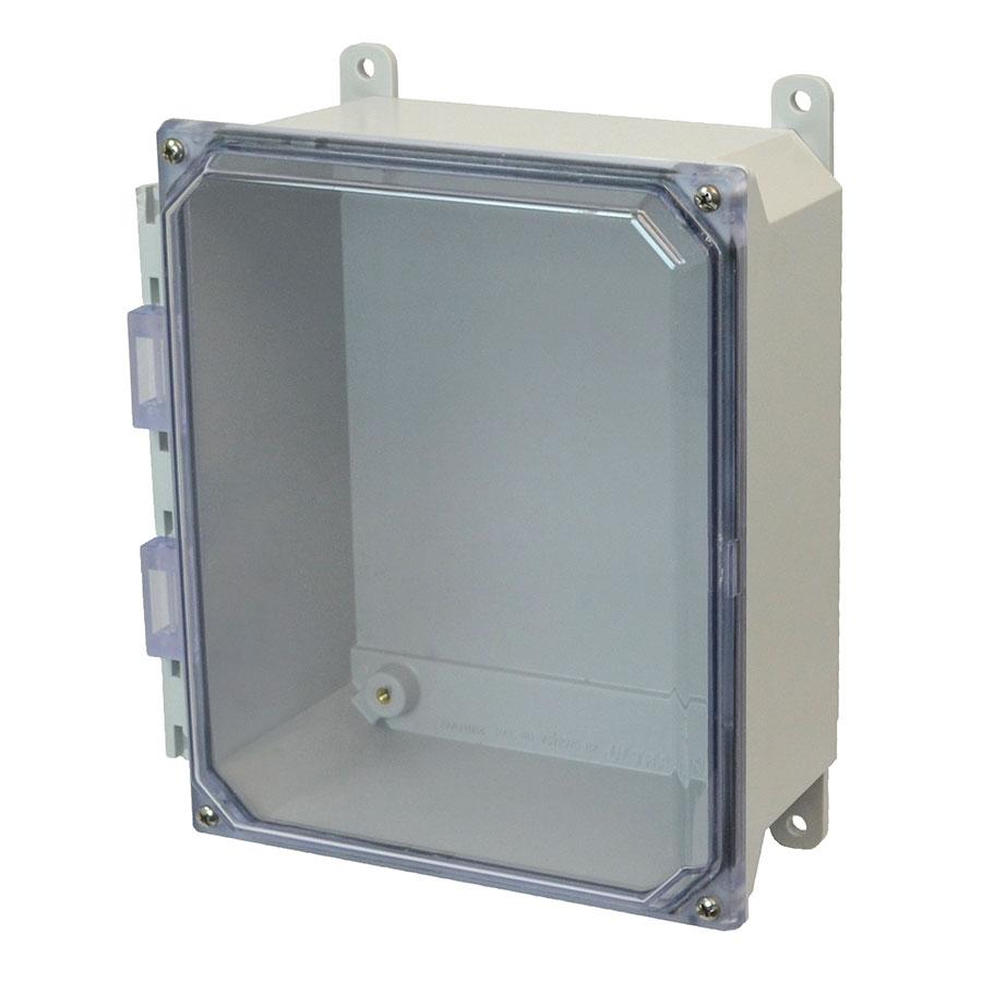 AMU864CC Fiberglass enclosure with 4screw liftoff clear cover