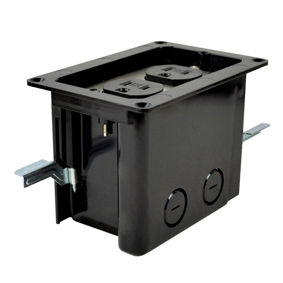 FB-2RI Single gang floor box roughin kit duplex device