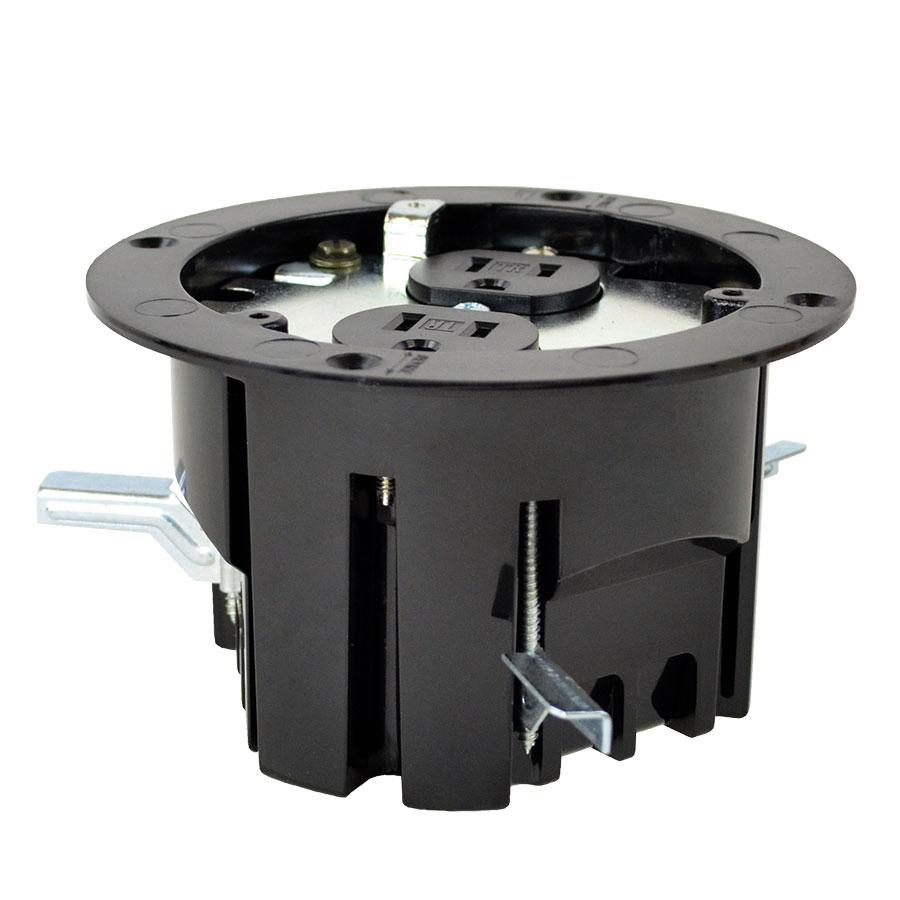 FB-3RI Round floor box roughin kit duplex device