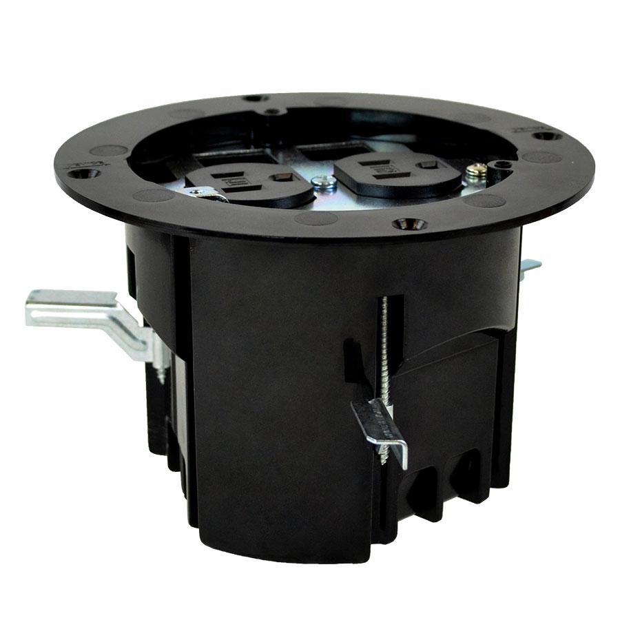 FB-4RI Round floor box roughin kit duplex deviceLV provisions