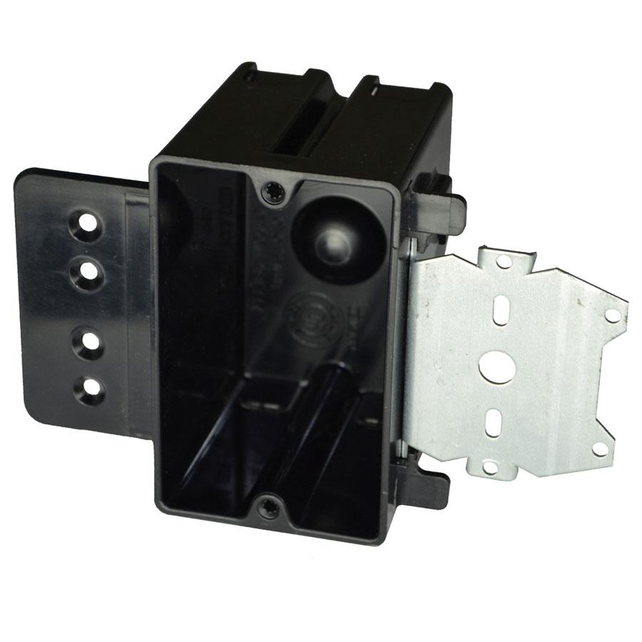 P-181HZ Single gang electrical box with moldedin stud face mount hanger Z bracket 12 offset