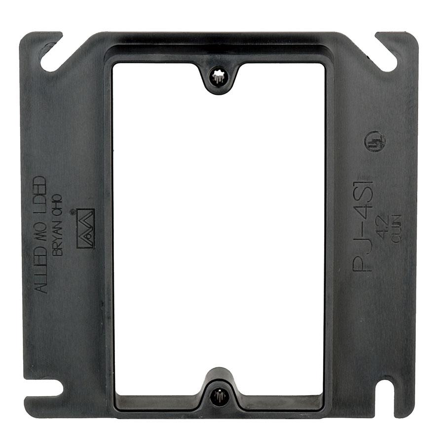 PJ-4S1 4 square single gang junction box plaster ring