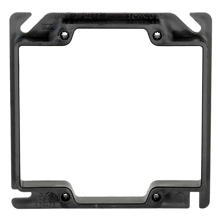 PJ-4T1 4 square two gang junction box plaster ring