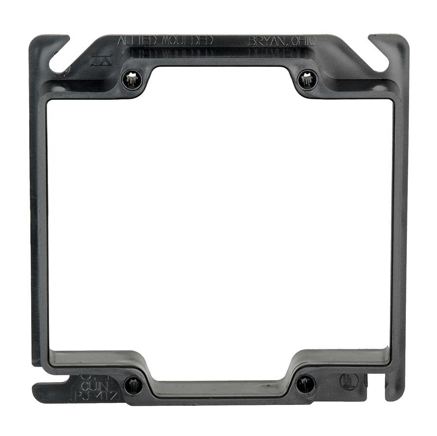 PJ-4T2 4 square two gang junction box plaster ring