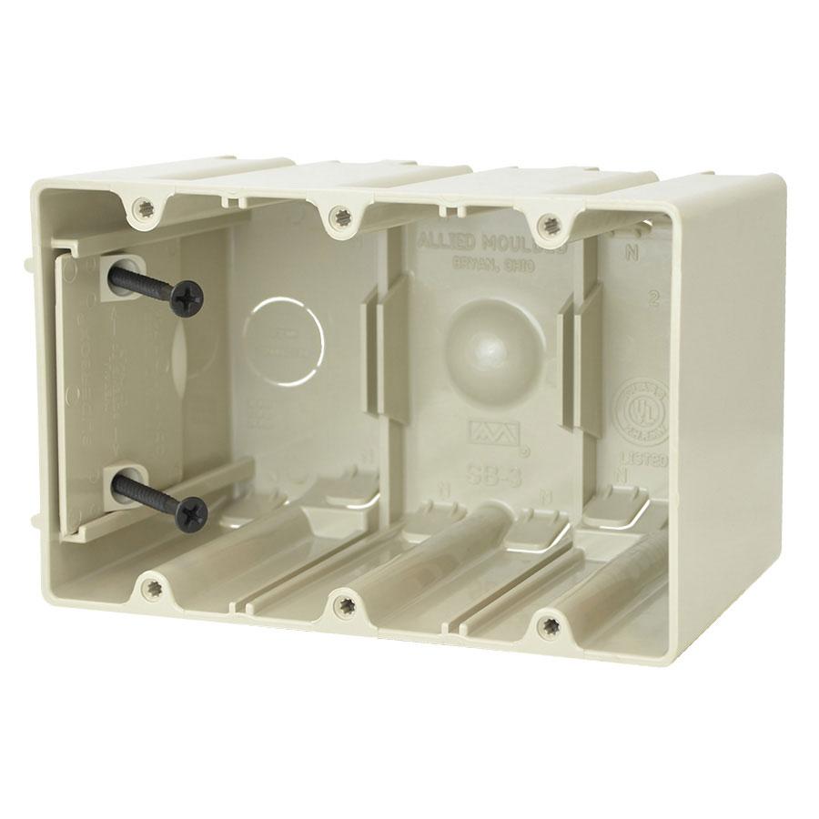 SB-3 Three gang adjustable electrical box