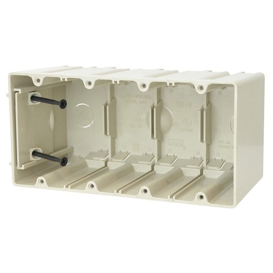 SB-4 Four gang adjustable electrical box