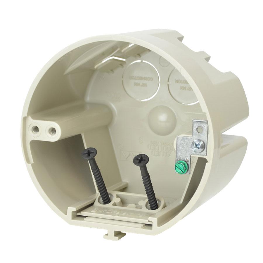 SB-CBG 4 round adjustable fixture support box with ground
